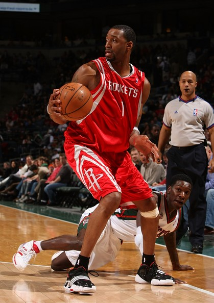 Tracy McGrady wearing the adidas Pirhana
