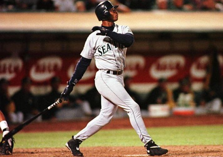 Ken Griffey Jr in Nike Air Max Griffey III 55th Home Run