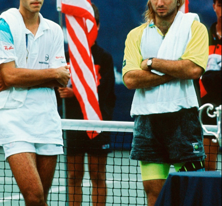 Pete Sampras and Andre Agassi 1990 US Open Finals