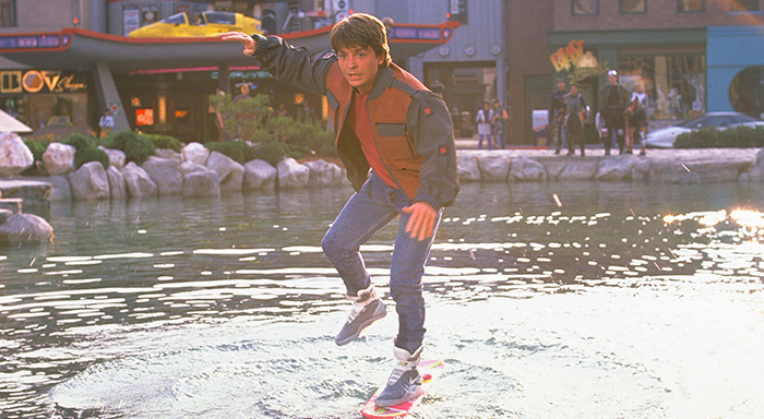 Back To The Future Skateboard on Water