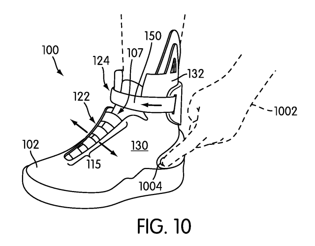 Patent for an article of footwear with an automatic lacing system