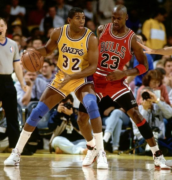 Michael Jordan versus Magic Johnson