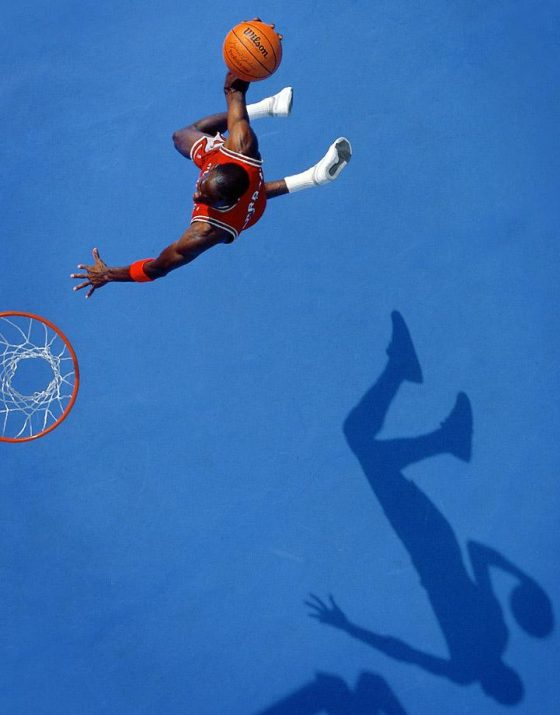 Michael Jordan Wearing The Nike Court Force Low for a Sports Illustrated Cover Shoot in 1987