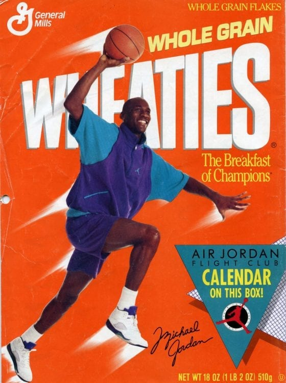 "Wheaties Box: Michael Jordan in the Air Jordan 5 ""Grapes"""
