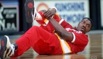 Hakeem Olajuwon in L.A. Gear 1990
