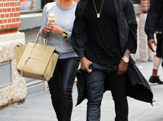 "Kanye West in Air Jordan 3 ""White Cement"""