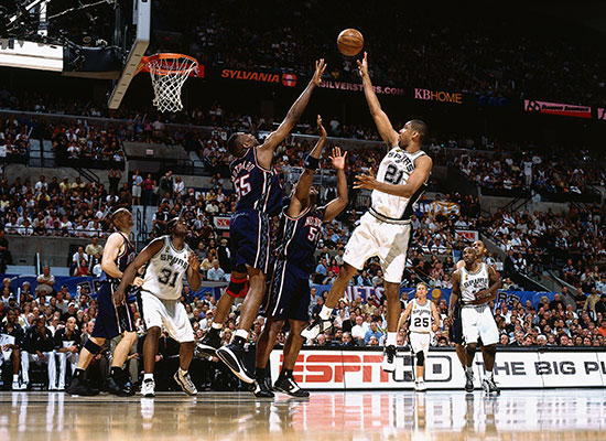 Tim Duncan in adidas a3 Superstar