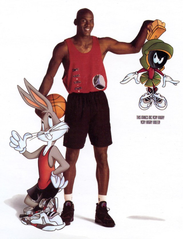 Bugs Bunny Hare Jordan Poster with Michael Jordan and Marvin the Martian