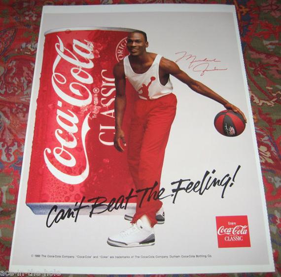 Michael Jordan Posters - Coke Can't Beat The Feeling