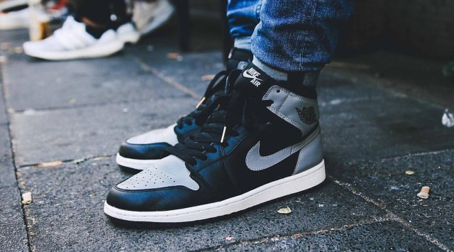 Air Jordan 1 Shadow On Foot