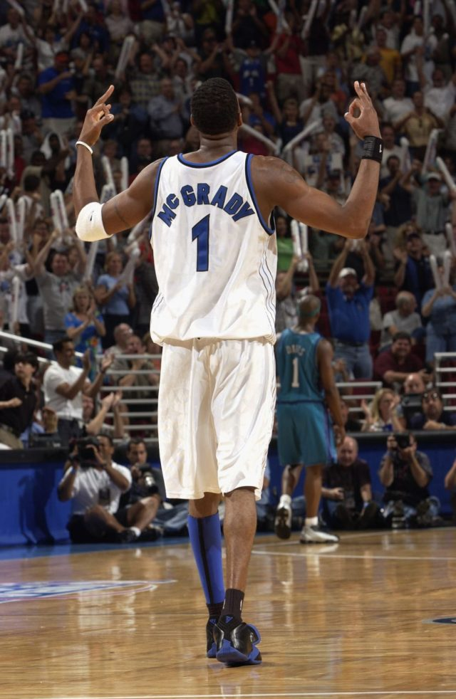 Tracy McGrady in the adidas T-Mac 1