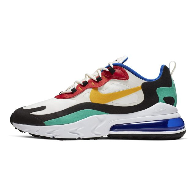 The flagship colorway of the MENS Nike Air Max 270 React