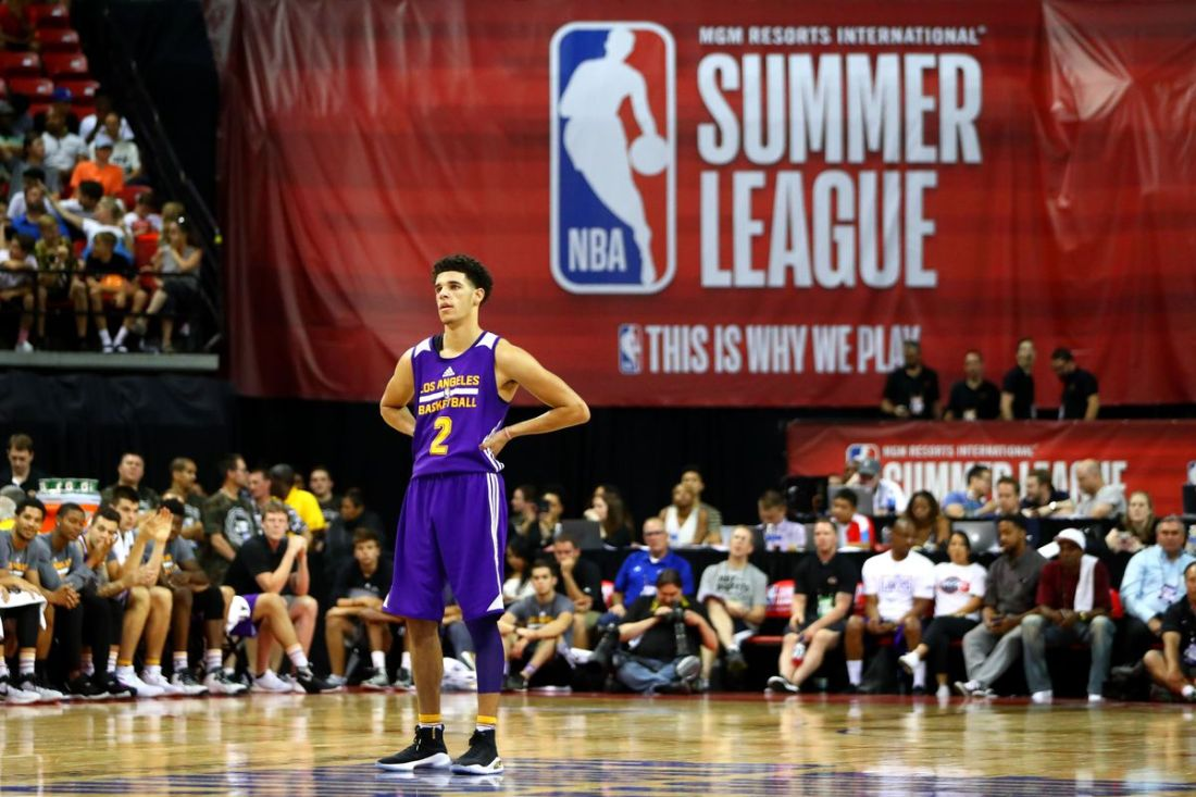 Lonzo Ball at the Las Vegas Summer League