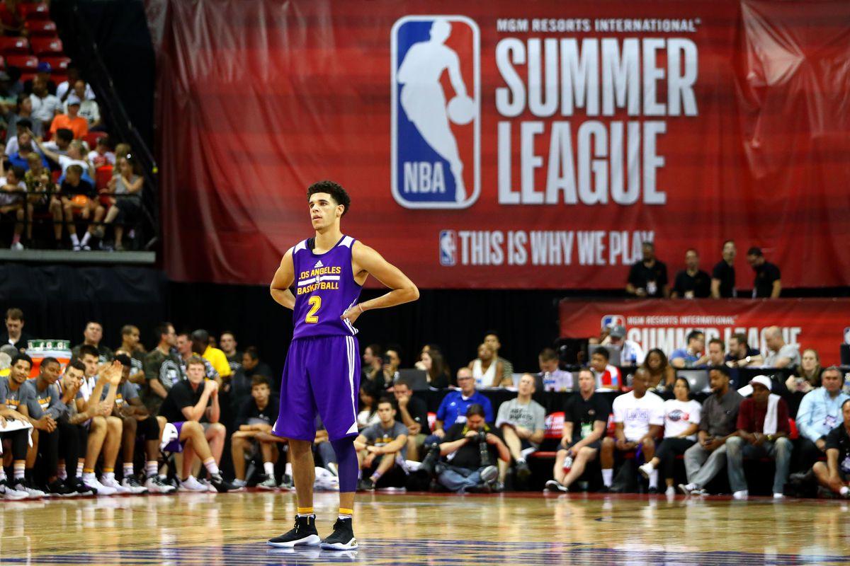 Lonzo Ball at the Las Vegas Summer League