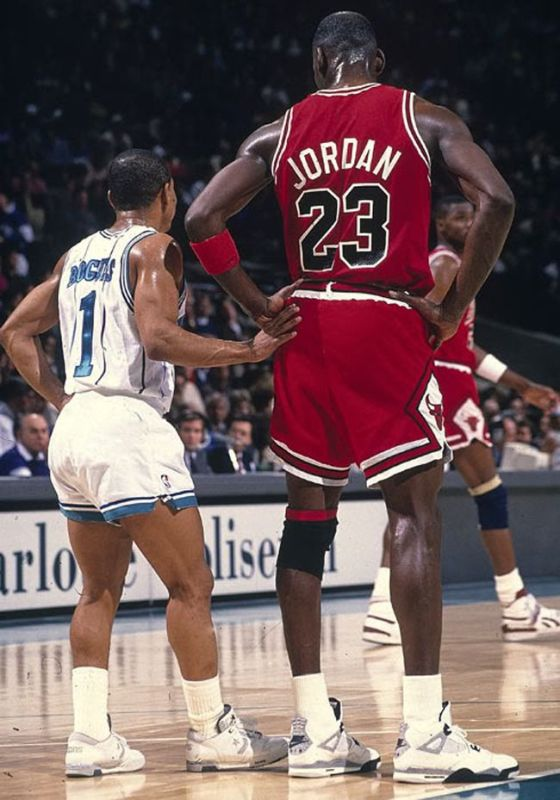 Michael Jordan and Muggsy Bogues
