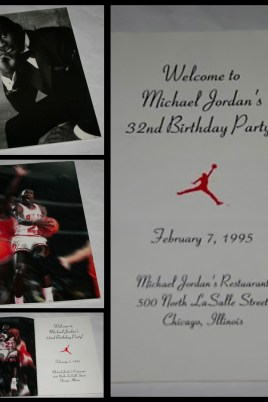 Michael Jordan's 32nd birthday party invitation.