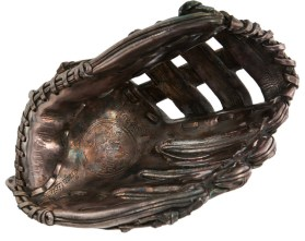 1 of 10 Silver-cast Wilson gloves made for Michael Jordan's 32nd birthday.