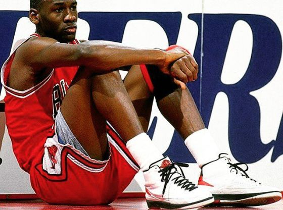 Michael Jordan in the Air Jordan 2
