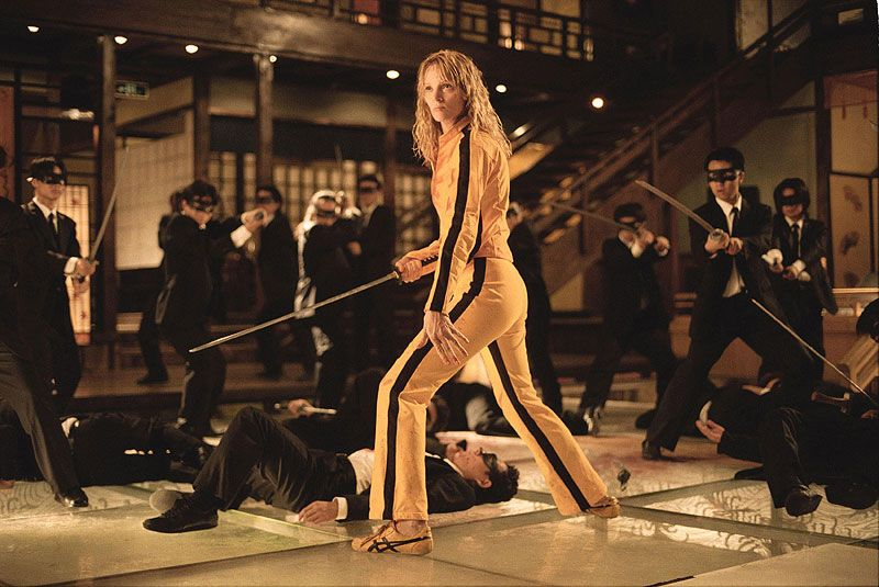 Uma Thurman in the ASICS Tai Chi - Kill Bill Volume 1