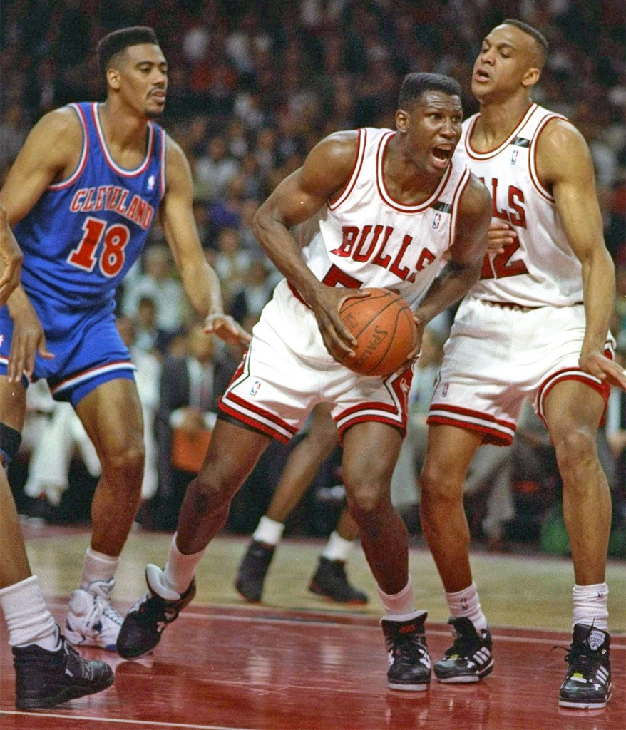 Cliff Levingston wearing the PONY M-100 - Championship Era Bulls Sneakers
