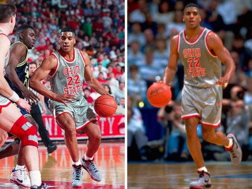 Jim Jackson wearing the Nike Air Bound at Ohio State