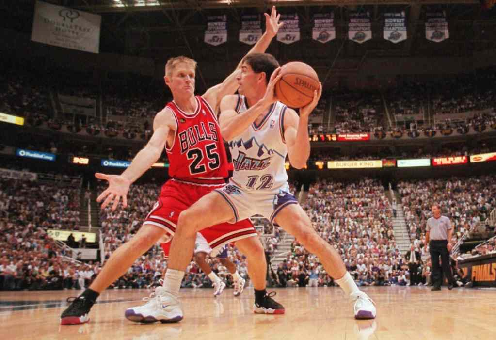 Steve Kerr in the Nike Air Rise Uptempo