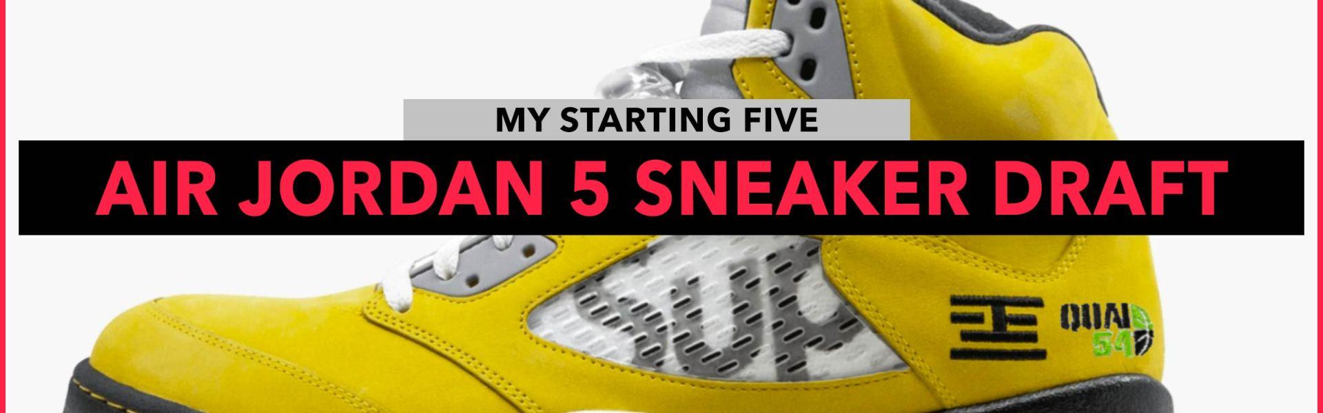 Air Jordan 5 My Starting Five