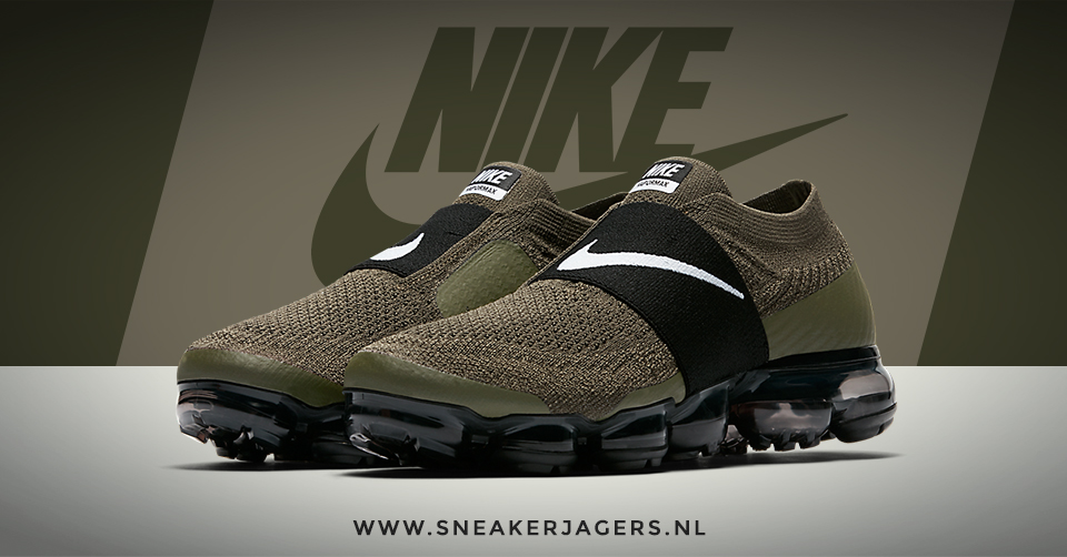 Vernieuwde Veterloze Nike Air VaporMax Moc Cargo Khaki