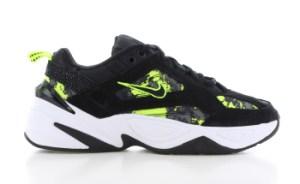 Nike M2K Tekno Zwart/Geel Dames