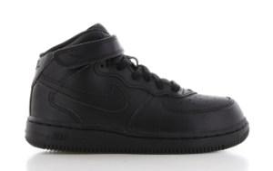 Nike Air Force 1 Mid Zwart Peuters