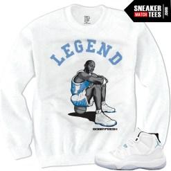 Legend Blue 11 shirts to match Columbia 11s jordans shirt that match Legend Blue 11