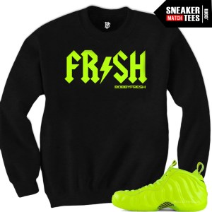 Sweaters and Shirts to match the Volt Foamposites