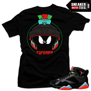 Jordan 7 Marvin the Martian sneaker tees shirts match new jordans online shopping streetwear karmaloop
