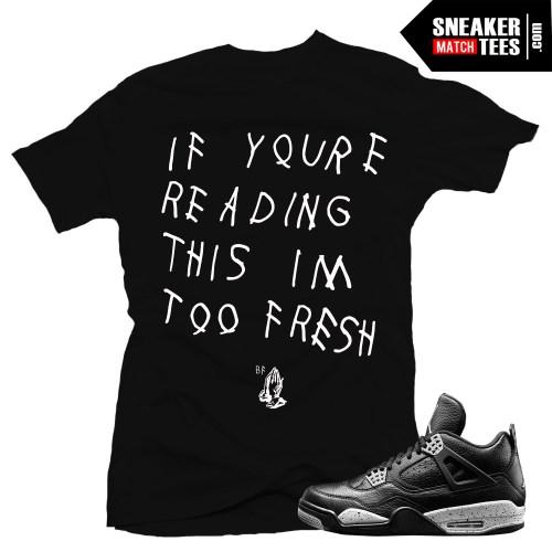 Oreo 4s jordan retros matching sneaker tee shirts online shopping streetwear karmaloop