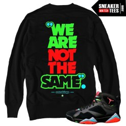Marvin the Martian Jordan 7s matching clothing shirts sneaker tees