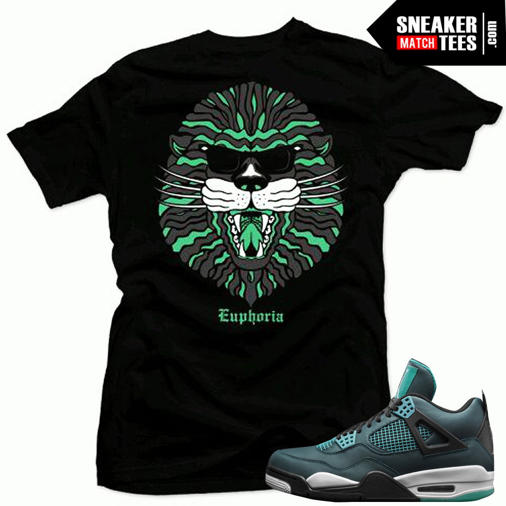 7c06ec2a9dfd1d jordan 4 teal shirt to match retro 4s teal sneaker shirts