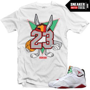 Hare 7 Jordan shirts to match