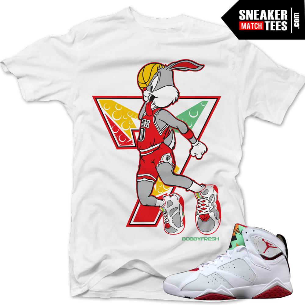 1f4e9a0c3c2875 tee shirts match jordan 7 hare sneaker match retro 7s hare shirts