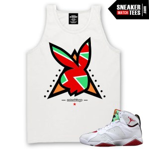 Jordan 7 Hare Tank tees to match Hare 7s shirts