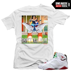 Jordan 7 Hare shirts to match Hare 7 Jordans