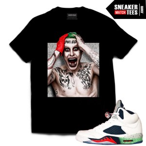Space Jam 5 jordan shirt matches Jordan 5 Space Jam