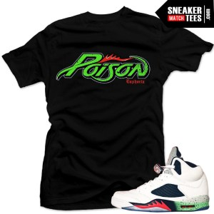 Space Jam 5s matching shirt