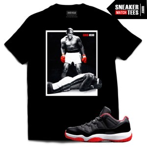 Jordan 11 shirts to match Bred 11 Jordans