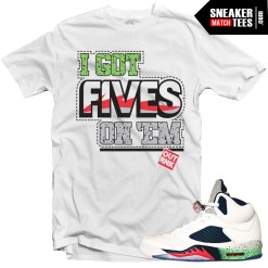 Jordan 5 Space Jam shirts to match Space Jam 5s streetwear karmaloop online