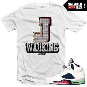 Jordan 5 Space Jam shirts to match Space Jam 5s streetwear karmaloop online