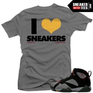 Jordan 7 bordeaux matching shirt