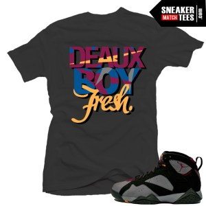Jordan 7 bordeaux shirt to match