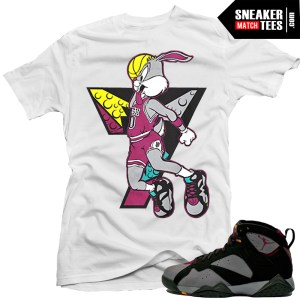 Jordan VII Bordeaux match t shirt