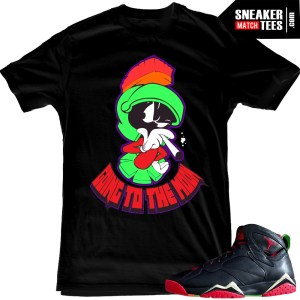 Marvin the Martian 7s matching t shirt sneaker news