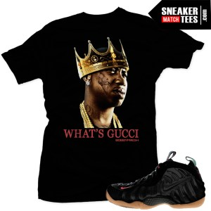 Gucc Foams t shirt Gucci mane t shirt matches sneakers